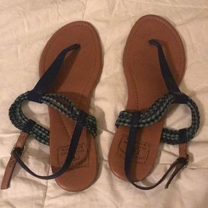 Lucky Brand bluejeans America sandals braided blue